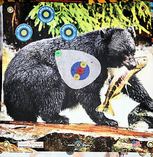 "ARCHERY TARGET -1500 PLUS SHOTS! BLACK BEAR WITH SCORING ZONE! 17""X 17"""