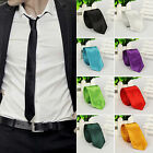 Nice New Casual Slim Plain Mens Solid Skinny Neck Party wedding Tie Silk Necktie