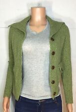 Banana Republic Women's Green Wool Button Down Knit Cardigan Sweater XS