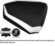 DESIGN 2 WHITE & BLACK CUSTOM FITS KTM RC8 R 1190 REAR LEATHER SEAT COVER