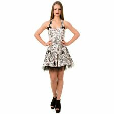 XL Untamed Garden Bats Butterflies and Insects Mini Dress Banned White Pink 16