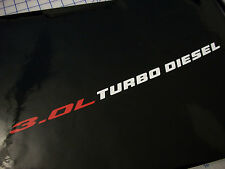 3.0L Turbo Diesel - (pair) Hood Engine decals emblem 2015+ Ram 1500 ecodiesel