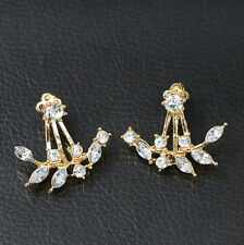 Rhinestone Stud Earrings Fashion New Jewelry Crystal Women Pearl Ear Gift