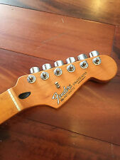 2007 Fender Stratocaster Standard Strat Amber Tint Maple Neck Tuners Plate