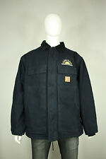 Carhartt sandstone jacket XL EUC navy blue canvas traditional artic quilt $130