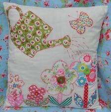 Paper template instructions sew a cottage floral garden applique cushion free pp