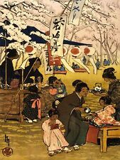 PAINTINGS LANDSCAPE BLOSSOM TIME TOKYO HELEN HYDE JAPAN CULTURE POSTER LV3194