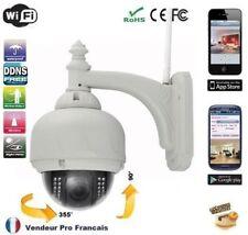 Dôme IP caméra extérieure surveillance wifi IR vision de nuit Sans fils