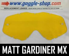 GOGGLE-SHOP LENS for SPY TARGA 3 / WHIP / KLUTCH MOTOCROSS GOGGLES YELLOW TINT