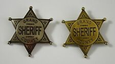 Pair of Old West Sheriff Badges - Ranger/Police/Cowboy Wild West Western US