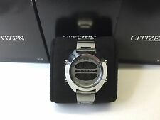 SS Silver Citizen Independent 1481010 D295 L16819 Digital LCD watch uhr MOT