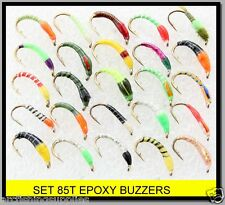 BN X 25 mixed EPOXY BUZZERS trout fly fishing flies  SET 85T FOR rod reel line