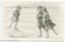 A. RONDINA . Enfants, patins à glace . Children, ice skates.
