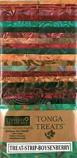 Timeless Treasures Boysenberry Tonga Batik Fabric Treats 40 Pieces/Strips, 2.5""