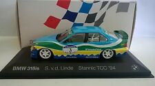 MINICHAMPS 1:43 DIE CAST AUTO BMW 318IS RACING CAR STANNIC TCC LINDE ART 420653