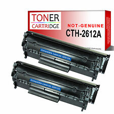 2 Black Toner Cartridge for HP Q2612A 12A Laserjet 1010 1012 1015 1018 1022N