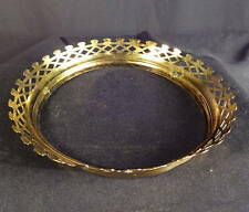 1880's B&H Fancy Brass Shade Crown for Hanging Library Lamp Frame (2)