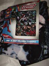 Justice League Evil Villains Joker Riddler Harley Quinn Bane Plush Throw Blanket