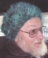 Crochet Pattern ~ CRAZY BLUE FUZZY HAT ~ Instructions
