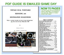 Dual Turntable Service Manual '60s-'80s; Steuerpimpel , S/M Ring, Lube Available