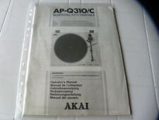 Akai AP-Q310/C  Owner's Manual  Operating Instructions Istruzioni