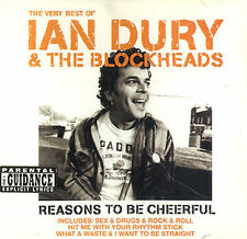REASONS TO BE CHEERFUL - IAN DURY & THE BLOCKHEADS - GREATEST HITS CD
