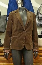 CALVIN KLEIN Brown Cotton Blend Long Sleeve Collared Blazer Jacket NEW NWT - M