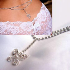 Sexy Silver Rhinestone Butterfly Body Waist Belly Chain Adjustable Free Gift Bag