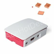 Official Case Enclosure Box Shell Cover +Heat Sink Kit for Raspberry Pi 3