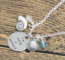 'IM REALLY A MERMAID' CHARM ENGRAVED NECKLACE SEA OCEAN BEACH NECKLACE 18""