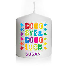 Personalised Good Luck New Job Sorry You're Leaving Candle Keepsake Gift Small