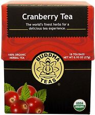 Cranberry Tea, Buddha Teas, 18 tea bag 1 pack