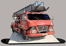 MINIATURE CAMION DE POMPIER CITROEN, pompier-citroen-06 en horloge