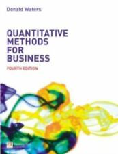 Quantitative Methods for Business by Donald Waters (2007, Paperback)