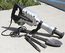1700 Watt  DEMOLITION BREAKER JACK HAMMER CONCRETE CEMENT+ SPADE SCOOPE SHOVEL