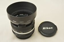 #758 Nikon Nikkor Ai 50mm F/1.4 MF Standard Lens With Hood, Caps From Japan