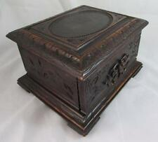 Antique Carved 4 Drawer Scottish Cigar Humidor Simply Stunning, So Rare & Lovely