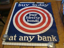 Vintage ORIGINAL Poster WWI BUY-TO-DAY at any bank S I BUSH w target