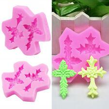 Pink Kreuz Ausstecher Silikon Ausstechformen Schokolade Fondant Kuchen Backform