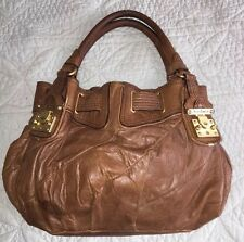 AUTHENTIC JUICY COUTURE BROWN LEATHER FREESTYLE LOCK HOBO BAG PURSE $398