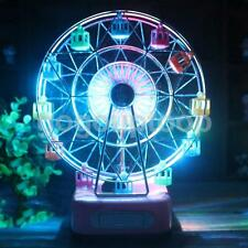 Electric Ferris Wheel Music Box Flashing Light Birthday Christmas Gift Blue