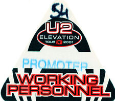 U2 - Elevation Tour 2001 - backstage pass working personnel
