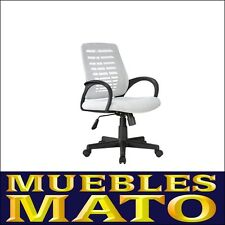 SILLA DE OFICINA SILLON DE DESPACHO SALON ESTUDIO DIRECCION BLANCO SOF.11