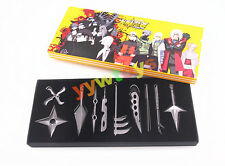 Anime Naruto Shippuden 10 PCS Cosplay Kunai Konoha Weapon Metal New In Box