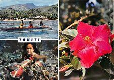 BR30130 Lagon tahitien et fleur d hibiscus tahiti