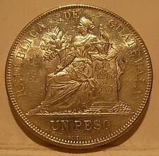 Guatemala 1894 Silver Peso UNC