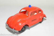 USA OR GERMANY PLASTIC PLASTIK VW VOLKSWAGEN BEETLE KAFER BRANDWEER NEAR MINT