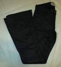 NEW CURRENT/ELLIOTT THE SEAMED BELL JEANS - BLACK COATED - SIZE 26 SAMPLE -$258