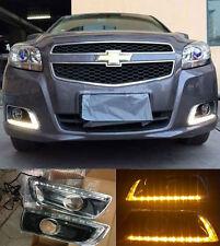 LED Daytime Running Light For Chevrolet Malibu Fog Lamp DRL W/ Turn Signal 12-15