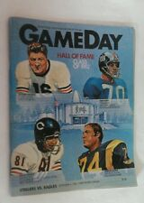 1982 STEELERS Vs EAGLES  Program Three Rivers Stadium SAM HUFF  Cover RARE